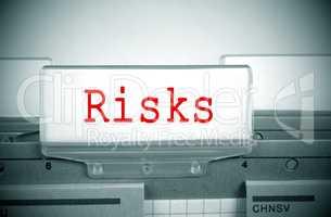 Risks Register Folder Index in the Office