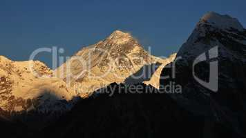 Majestic Mt Everest at sunset
