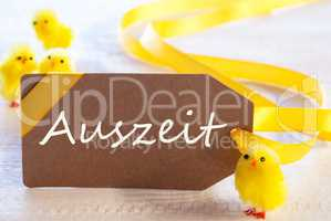 Easter Label, Chicks, Auszeit Means Downtime
