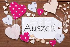 Label, Pink Hearts, Auszeit Means Downtime
