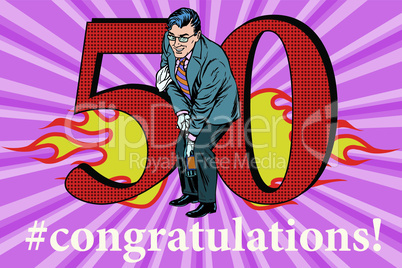 Congratulations 50 anniversary event celebration