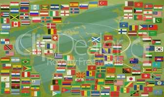 Fußballfeld WM und EM