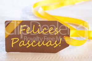 Label, Felices Pascuas Means Happy Easter