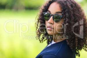 Mixed Race African American Girl Teen Sunglasses