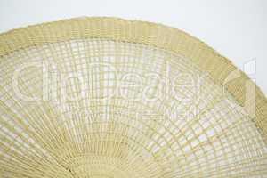 Circular mat on white background