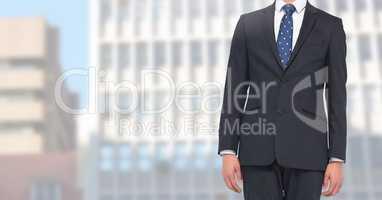 Businessman Torso against a building