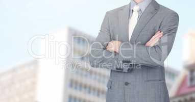 Businessman Torso in the city