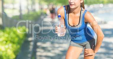 Female Fitness Torso against a parc background