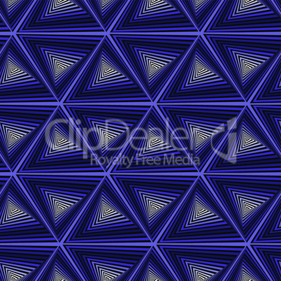 Seamless pattern with dark blue triangle shapes