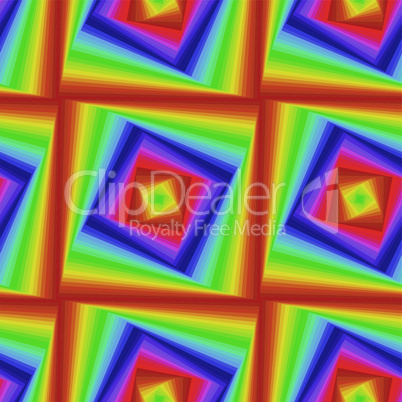 Seamless pattern with colourful quadratic forms