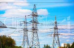High voltage towers