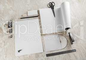 Blank stationery mock up