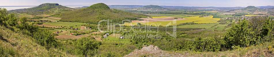 Panorama picture from the volcanoes in Hungary, near the lake Ba