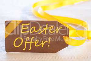 Label, Text Easter Offer