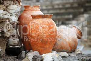 Ancient clay vases