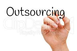Outsourcing Handwritten With Black Marker
