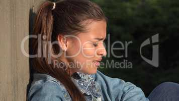 Sadness Of Teen Girl