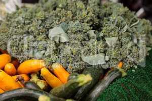 Organic broccoli, zucchini and squash