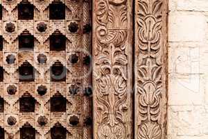 Moroccan antique wood texture
