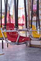 Colorful swing carousel carnival chair ride