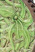 Green Ceramic nautical octopus pattern