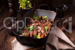 Roasted King Oyster Mushrooms