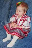 baby in Ukrainian national suit