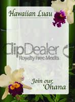Hawaiian luau invitation illustrator template