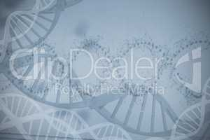 Device screen of DNA helix pattern