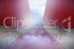 Composite image of illustrative image of red carpet event