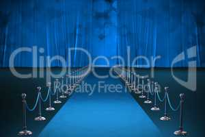 Composite image of digitally generated image of blue carpet event