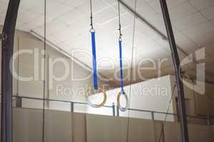 Rings in gymnasium