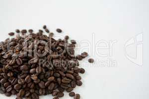 Pile of roasted coffee beans