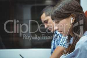 Executive listening music