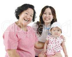 Three generations Asian family