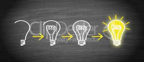 Idee, Innovation, Kreativität - Glühbirne Konzept