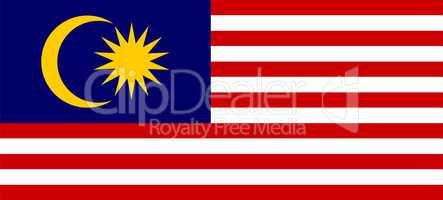 Fahne von Malaysia
