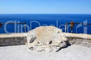 The sea view terrace near Cape Formentor in Mallorca island, Spa