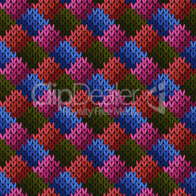 Multicolor seamless knitted pattern