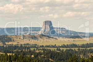 Devils Tower from a distance