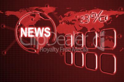 Composite image of illustration of 23 percent in digital font 3D
