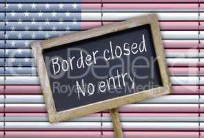 Border closed - no entry