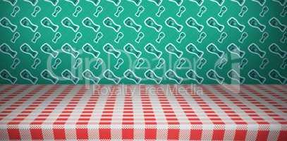 Patricks day wallpaper above table