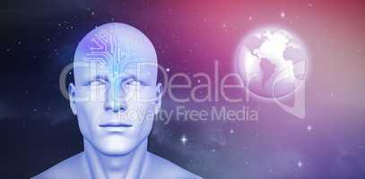 Composite image of digital image of human figure
