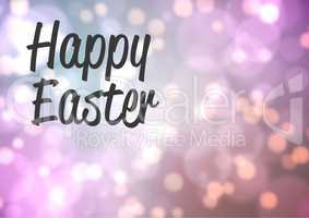 Happy Easter Quote against a shining background