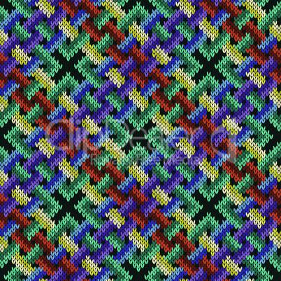 Seamless knitted intertwining pattern
