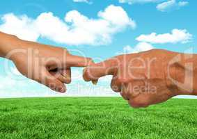 Couple Hands Nature