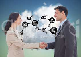 Businesspeople shaking hands with each other