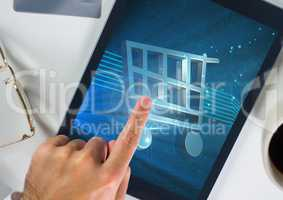 Conceptual image of online shopping