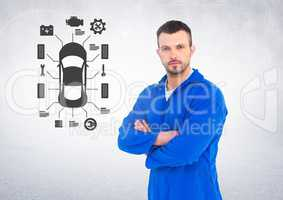 Portrait of a confident automobile mechanic